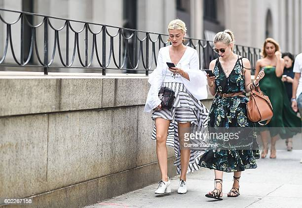 Guests are seen outside the Jonathan Simkhai show during New York Fashion Week Spring 2017 on September 10 2016 in New York City