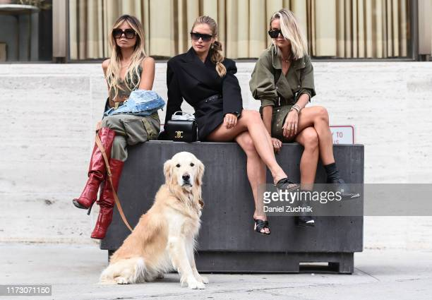 Guests are seen outside the Longchamp show during New York Fashion Week S/S20 on September 07, 2019 in New York City.