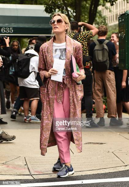Guests are seen outside the Marc Jacobs show during New York Fashion Week Women's S/S 2018 on September 13 2017 in New York City