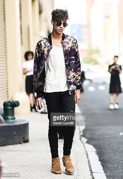 Guests are seen outside the Palmiers Du Mal show during New York Fashion Week Men's S/S 2017 Day 4 on July 14 2016 in New York City