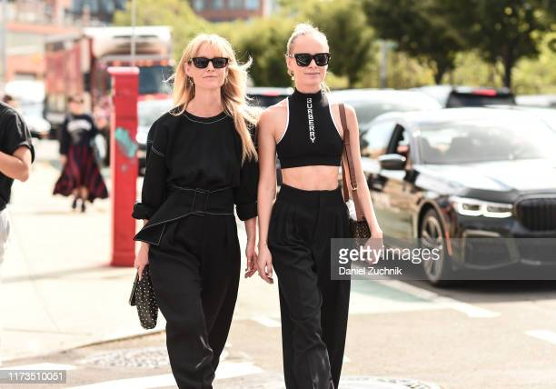 Guests are seen outside the Phillip Lim show during New York Fashion Week S/S20 on September 09, 2019 in Brooklyn, New York.