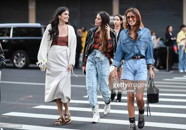 Guests are seen outside the R13 show during New York Fashion Week S/S20 on September 07 2019 in New York City