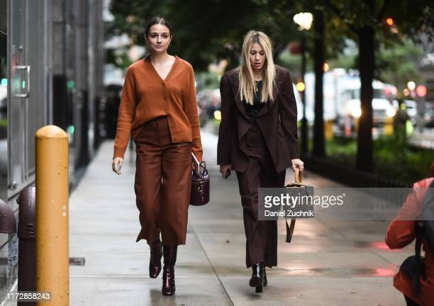 Guests are seen outside the Rag & Bone show during New York Fashion Week S/S20 on September 06, 2019 in New York City.