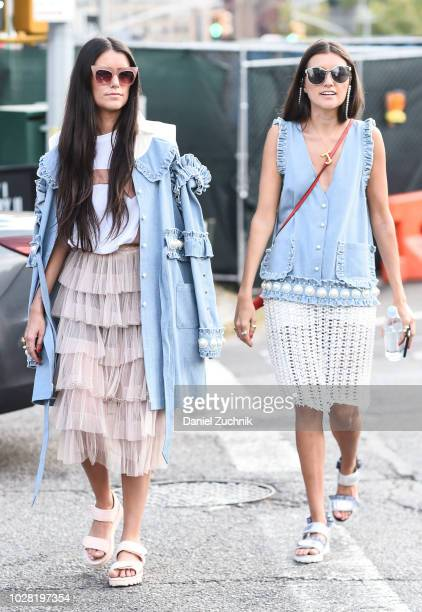Guests are seen outside the Tadashi Shoji show during New York Fashion Week Women's S/S 2019 on September 6 2018 in New York City