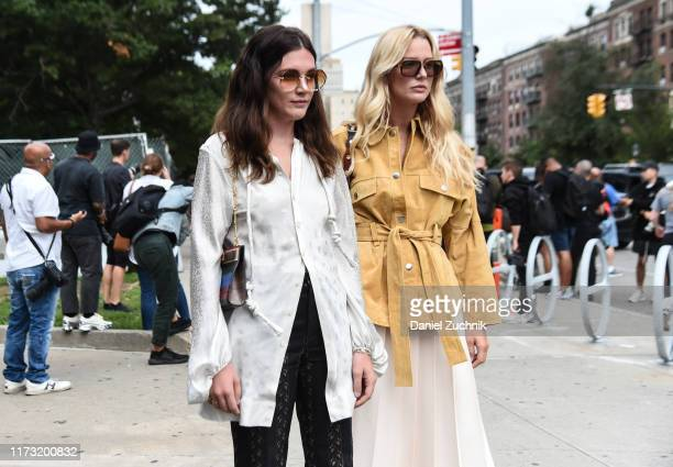 Guests are seen outside the Tory Burch show during New York Fashion Week S/S20 on September 08 2019 in New York City
