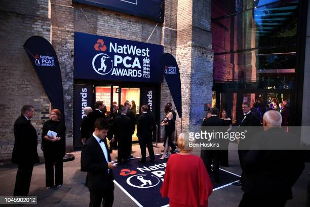 Guests arrive ahead of the NatWest PCA Awards at The Roundhouse on October 4 2018 in London England