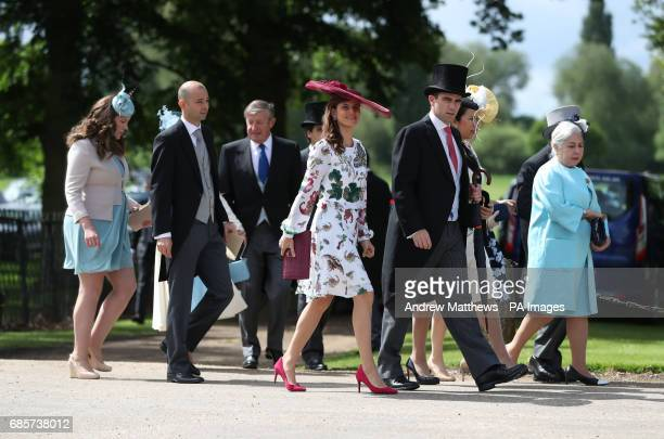 Guests arrive ahead of the wedding of the Duchess of Cambridge's sister Pippa Middleton to her millionaire groom James Matthews dubbed the society...
