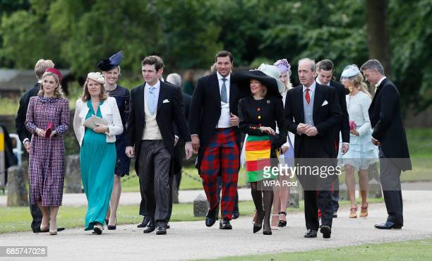 Guests arrive at St Mark's Church ahead of the wedding of Pippa Middleton and James Matthews on May 20 2017 in Englefield England Middleton the...