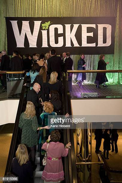 Guests arrive at the after party of the Australian premiere of Wicked the musical at the Regent Theatre on July 12 2008 in Melbourne Australia