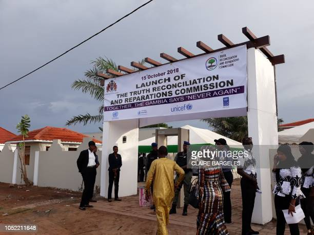 Guests arrive at the Dune's Resort in Kotu near Bajul for the ceremony launching the works of the Truth and Reconciliation and Reparation Commission...