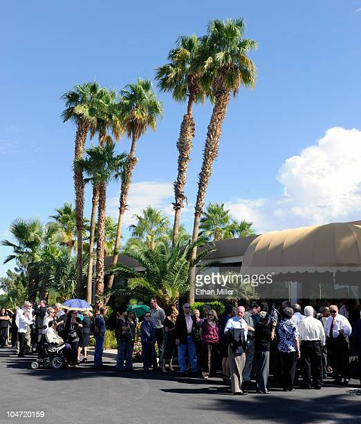 Guests arrive at the funeral for actor Tony Curtis at Palm Mortuary Cemetary October 4 2010 in Henderson Nevada Curtis died on September 29 at age 85