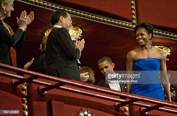 Guests arrive at the Kennedy Center for tonights honors awards with President Obama in attendance on December 2011 in Washington DC Pictured First...