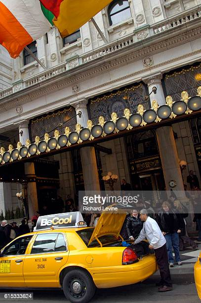 Guests arrive at the landmark Plaza Hotel on February 17 2005 The Plaza Hotel is reported to up for sale at a foreclosure auction due to happen next...