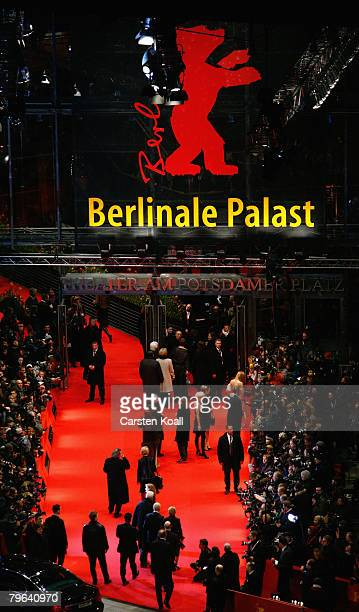 Guests arrive at the 'Shine A Light' Premiere as part of the 58th Berlinale Film Festival at the Berlinale Palast on February 7 2008 in Berlin Germany