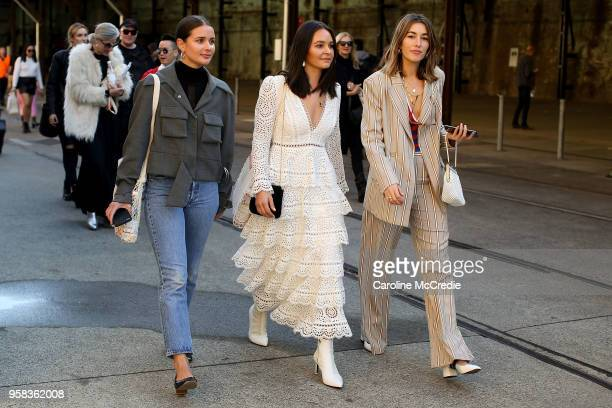 Guests arrive for MercedesBenz Fashion Week Resort 19 Collections at Carriageworks on May 14 2018 in Sydney Australia