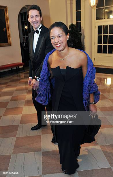 LEARY/TWP Guests arrive for President Obama holding a State Dinner for Prime Minister Manmohan Singh in the White House Pictured Ambassador Susan...