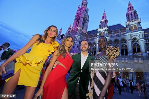 Guests arrive for the Life Ball 2017 at City Hall on June 10 2017 in Vienna Austria