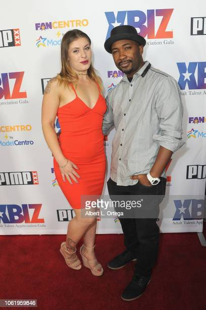 Guests arrive for XBIZ Rise Adult Talent Appreciation Gala held at Exchange LA on November 14 2018 in Los Angeles California