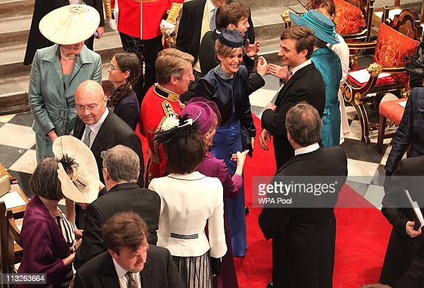 Guests arrive in Westminster Abbey ahead of the Royal Wedding of Prince William to Catherine Middleton at Westminster Abbey on April 29 2011 in...