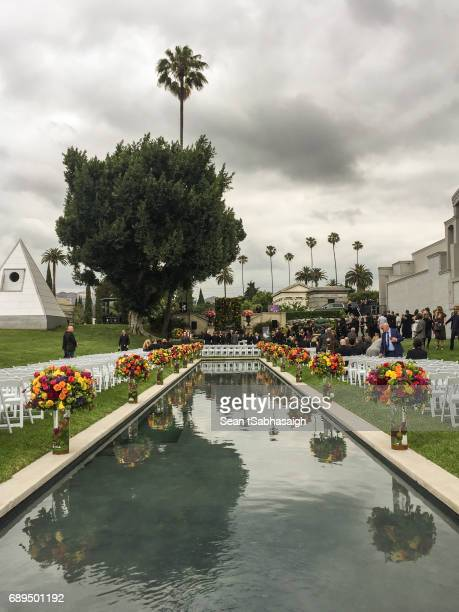 Guests arrive to Chris Cornell's funeral at Hollywood Forever on May 26 2017 in Hollywood California The grungerock icon was pronounced dead in the...