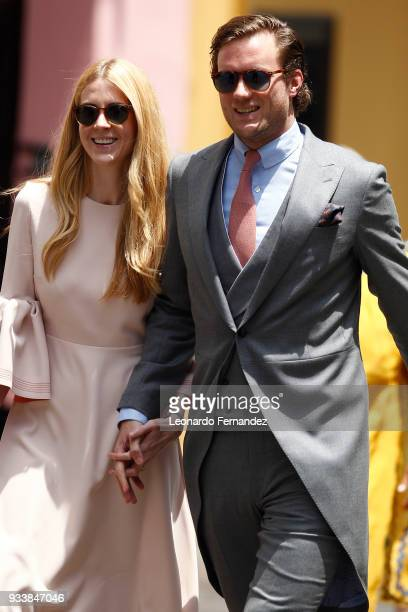 Guests arrive to the wedding of Prince Christian of Hanover and Alessandra de Osma at Basilica San Pedro on March 16 2018 in Lima Peru