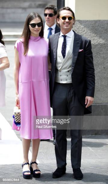 Guests arrive to the wedding of Prince Christian of Hanover and Alessandra de Osma at Basilica San Pedro on March 16, 2018 in Lima, Peru.