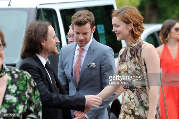 Guests arriving at Rayne Church in Kirkton on Rayne for the wedding of Kit Harrington and Rose Leslie on June 23 2018 in Aberdeen Scotland