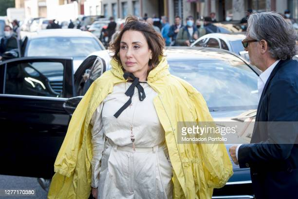 Guests arriving at the first Valentino fashion show at the conclusion of Milan Fashion Week 2020. Milan , September 27th, 2020