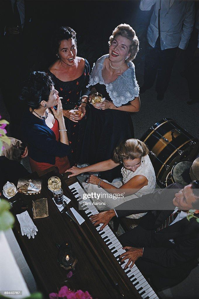 Guests at a party in San Antonio, Texas, October 1976.