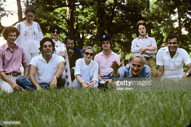 Guests at a summer picnic at the home of director James Ivory in Claverack New York August 1979 Among the group are publisher Anthony Korner...