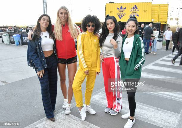 Guests at adidas Creates 747 Warehouse St an event in basketball culture on February 17 2018 in Los Angeles California