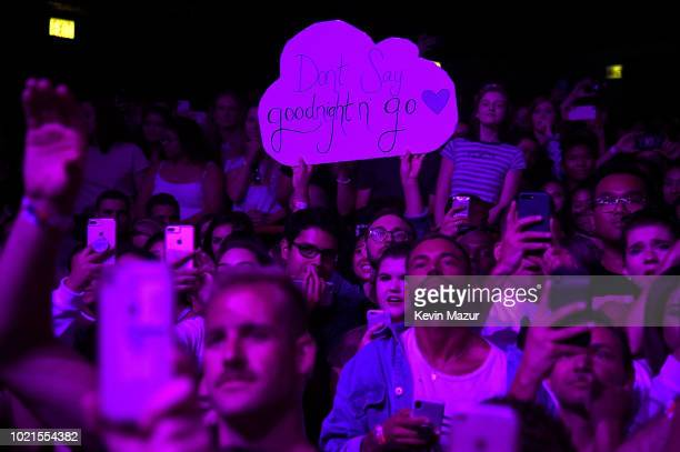 Guests at American Express And Ariana Grande Present The Sweetener Sessions At Chicago's The Vic at The Vic Theater on August 22 2018 in Chicago...