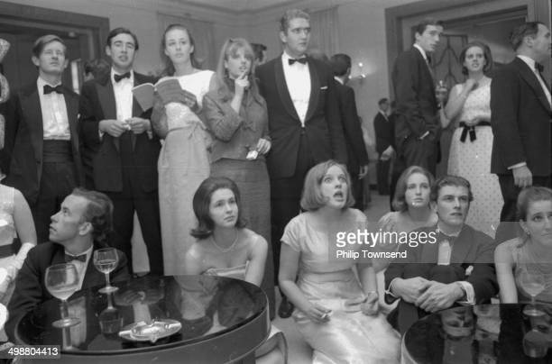 Guests at an election night party: Nick Oppenheimer, John Mackinnon, Anne Levenson, Toni Clifford-Woolf, Richard Millbourne, Richard Burrows and Alix...