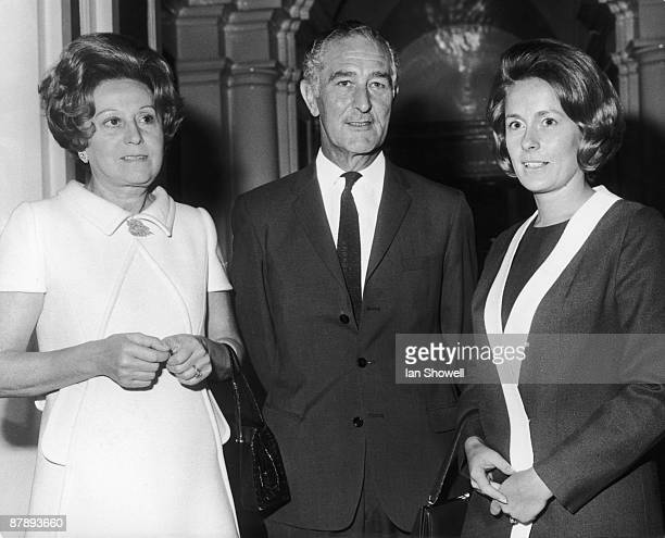 Guests at an RAF Club luncheon held at the RAF Club in Piccadilly 4th September 1969 From left to right Mrs Odette Hallowes GC Alan Harrison and BOAC...