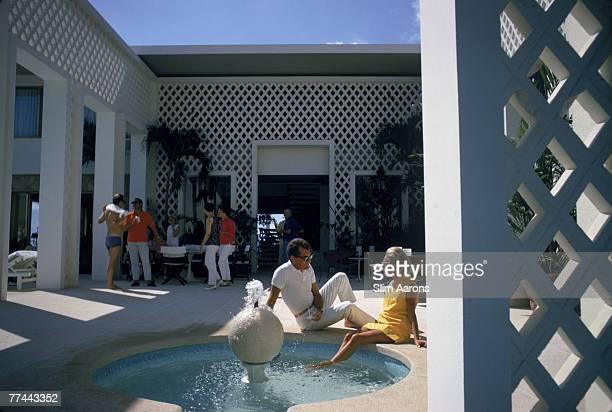 Guests at Arturo Pani's villa in Acapulco Mexico January 1968