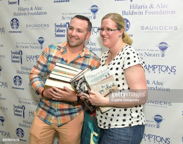 Guests at Authors Night 2017 At The East Hampton Library at The East Hampton Library on August 12 2017 in East Hampton New York