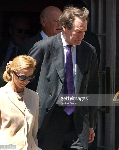 Guests at Former General Electric CEO Jack Welch's wedding to his new wife Suzy Wetlaufer at the Park Street Church Charlie Rose leaves the church