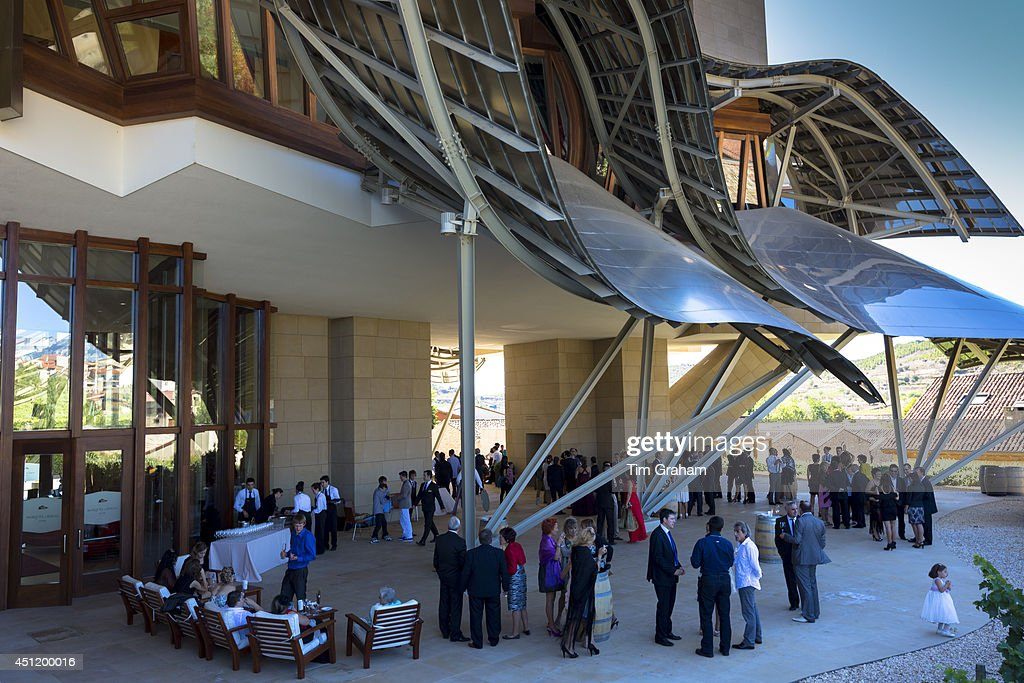Guests At Hotel Marques De Riscal Bodega Designed By Architect Frank