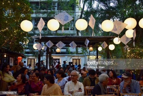 Guests at Kaifi Ki Yaad Main an evening of live music and poetry at 25 Janki Kutir celebrating the birth centenary of the late poet Kaifi Azmi on...