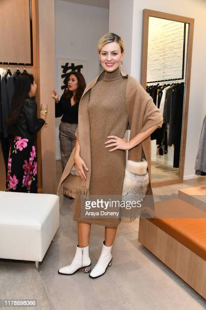 Guests at Lafayette 148 New York x Avril Graham at South Coast Plaza on October 02, 2019 in Costa Mesa, California.