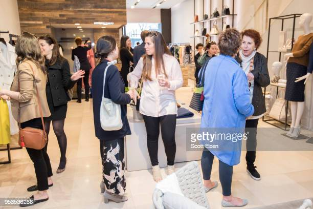 Guests at Max Mara's Newbury St location as it celebrates Boston ICA's Watershed Gala on May 1 2018 in Boston Massachusetts