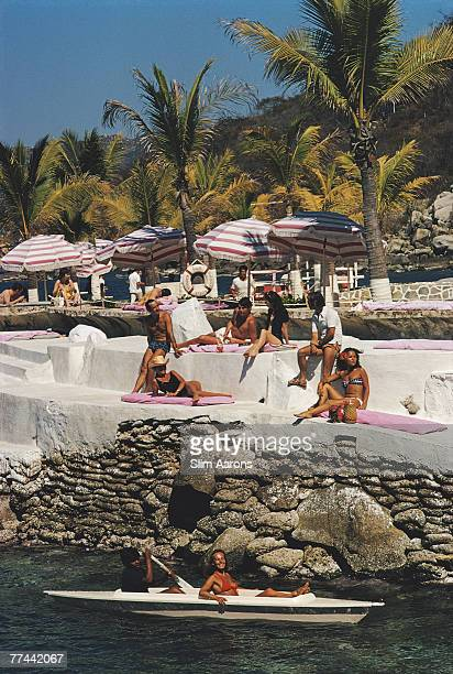Guests at the La Concha Beach Club Acapulco Mexico February 1972