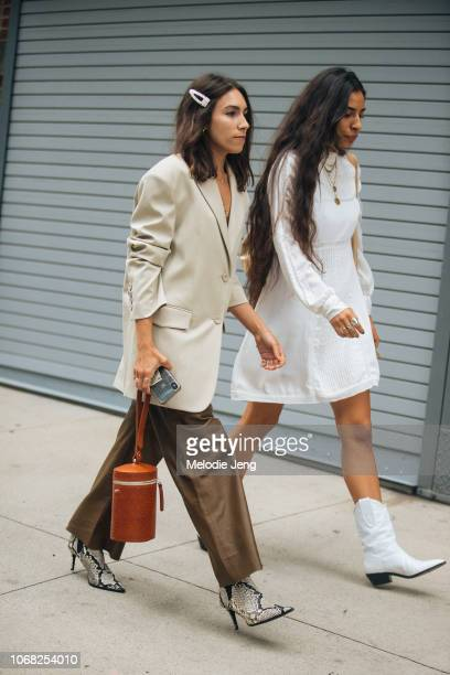 Guests at the Monse show during New York Fashion Week Spring/Summer 2019 on September 7 2018 in New York City