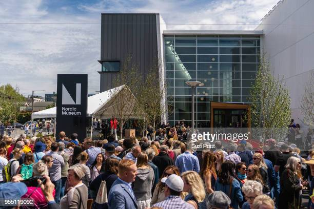 Guests at the Nordic Museum on May 5 2018 in Seattle Washington