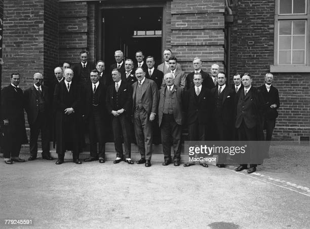 Guests at the opening ceremony for the new Department of Petroleum Technology at Birmingham University Birmingham UK 19th June 1926 The ceremony was...