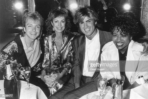 Guests at the premiere of a snooker thriller April 1985 Left to right American singer David Cassidy and his second wife Meryl Tanz British singer...