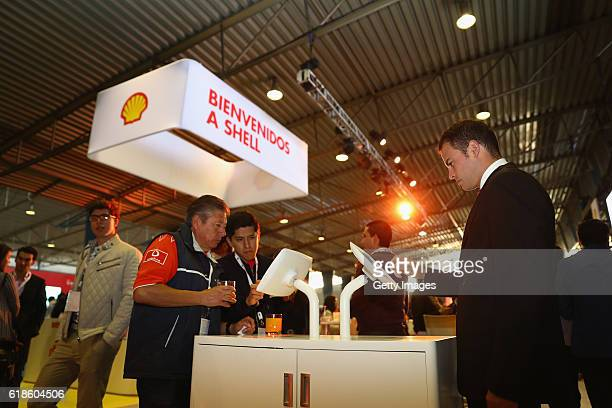 Guests at the Shell Eco Marathon event during the Formula One Grand Prix of Mexico at Autodromo Hermanos Rodriguez on October 27 2016 in Mexico City...