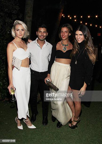 Guests at the Tracey Emin party hosted by Nick Jones Jay Jopling Rachel Lehmann and David Maupin at Soho Beach House on December 3 2013 in Miami...