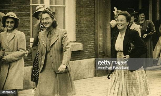 Guests at the wedding of Miep and Jan Gies in Amsterdam 16th July 1941 They include Anne Frank Esther and Pine The Gies' helped to hide Anne Frank...