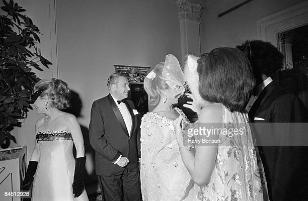 Guests at Truman Capote's Black-and-White Ball in the Grand Ballroom of the Plaza Hotel, New York City, 28th November 1966.